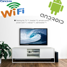 Free Shipping32inches Smart TV Multi-Interface Wifi Monitor andriod 4.4 Narrow Online education Simple OperationWiFi connect