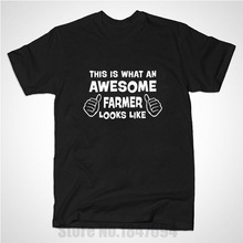 This is what an awesome Farmer looks like Funny T Shirt Men Casual Short Sleeve T-shirt