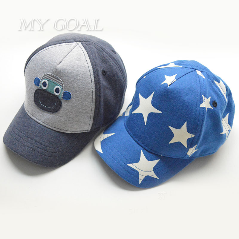 Children Baseball Caps Boys Girls Spring Summer Hats Stars Sun Hat Baby & Kids Cotton Cap New Fashion Free Drop Shipping 6M-6Y(China (Mainland))