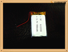 (5pieces/lot) Free shipping 3.7V lithium polymer battery 612338 062238 MP3 DIY Speaker millet Bluetooth 550MAH(China)