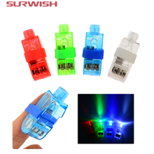 Surwish 4Pcs/ Lot LED Finger Lights Glowing Dazzle Colour Laser Emitting Lamps Christmas Wedding Celebration Festival Party deco
