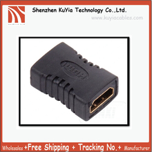 Free Shipping HDMI-F to HDMI-F Female Adapter video converter HDTV GOLD