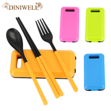 DINIWELL Portable Travel Camping Picnic  Cutlery Fork Set Kitchen Dinnerware Sets Gift for Child Kids