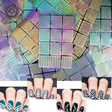 12 Tips/Sheet DIY Fashion Women Nail Vinyls Nail Art Manicure Stencil Stickers Stamp Template Decals Tool Nice Nail Decoration