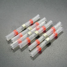 100 Red AWG 22-18 Heat Shrink Solder Sleeve Seal Wire Splice, Marine Boat Car Seal Heat Shrink Butt Connectors