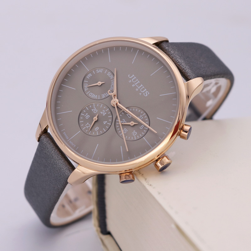 Real Functions Lady Womens Watch ISA Mov Fine Sport Hours New Fashion Leather Girl Birthday Christmas Gift Julius Box<br>