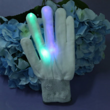 New Flashing Gloves Glow 7 Mode LED Rave Light Finger Lighting Mitt Toy finger led gloves PTSP