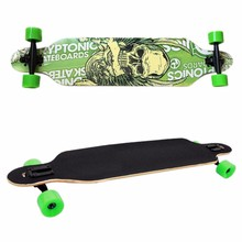 New Professional Canadian Maple Skull Skateboard Road Longboard Skate Board Adult 4 Wheels Downhill Street Long Board(China)