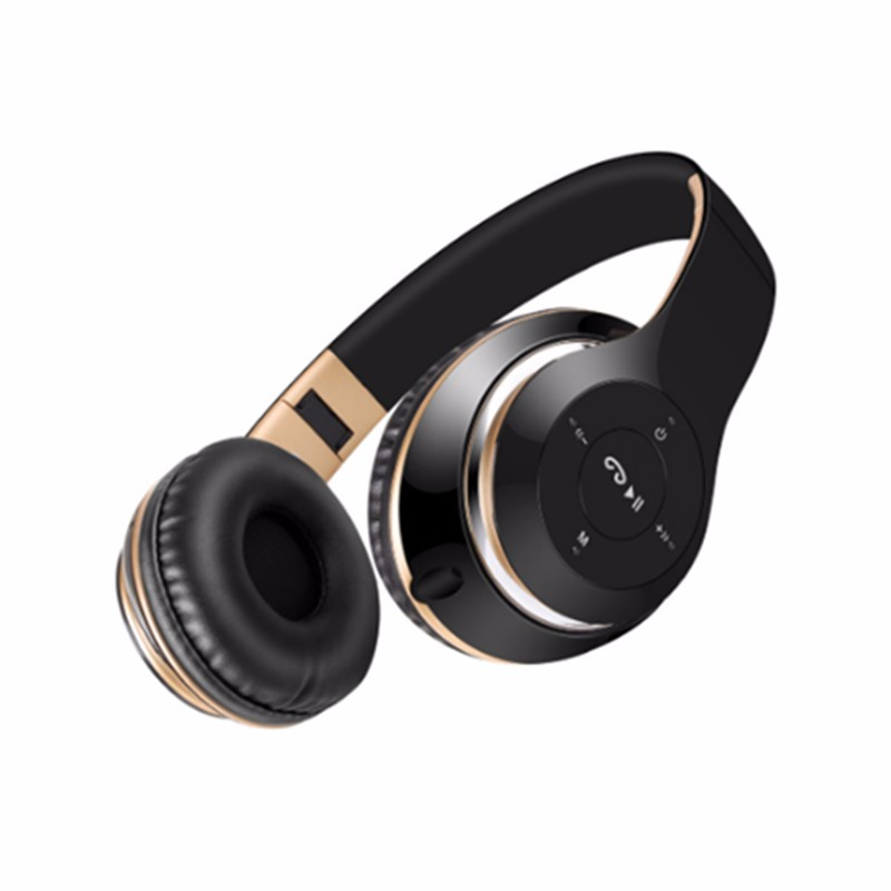 Wireless BT-09  Bluetooth Headphone with Mic Support TF Card FM Radio For iPhone For Samsung Calls Headphone<br><br>Aliexpress