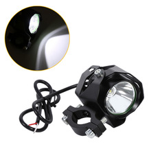 New 15W XML T6 Motorcycle LED Spotlight Driving Headlight Fog Lamp Spot Light with Lampshade Black(China)