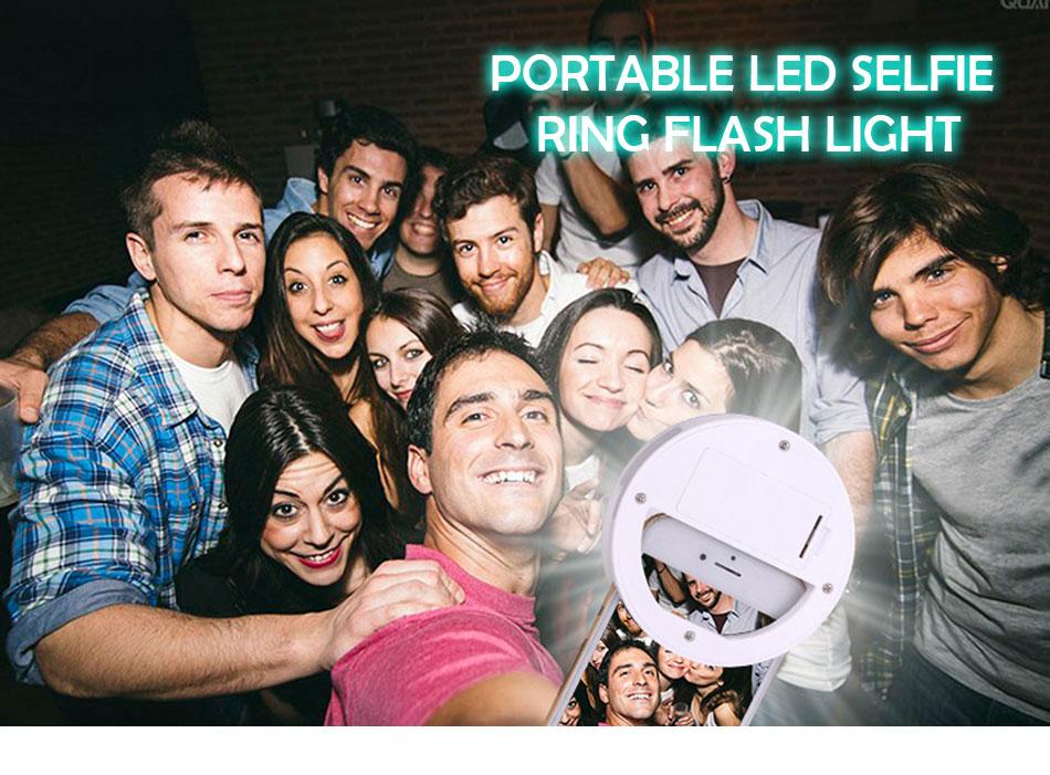ET Universal Phone Selfie LED Flash Light Universal Mobile Phone Selfie Luminous Ring Clip Lens For iPhone Samsung Xiaomi Huawei 3