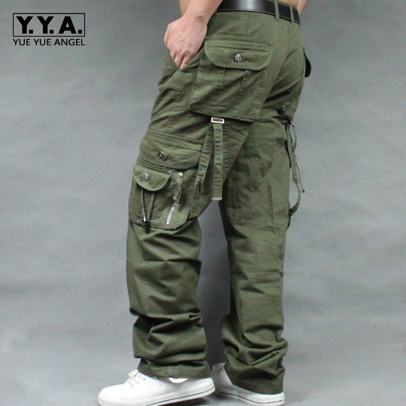2019 Top Brand Mens Military Cargo Pants Multi-Pockets Baggy Men Pants Casual Trousers Big Size High Quality Army Overalls Male
