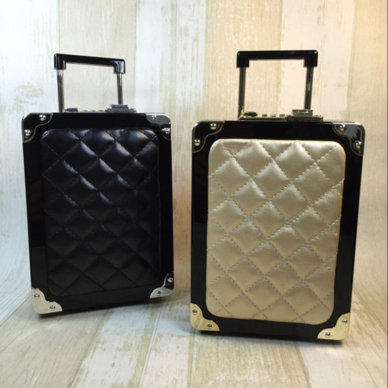 2017 The Direct Selling Promotion Hard Runway Mini Pocket Trolley Suitcase Yanbao Trumpet Diagonal Single Shoulder Bag Lattice <br><br>Aliexpress