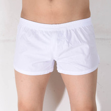 Sexy Men's Boxer Shorts Cotton Male Underwear Men Underpants Casual Homewear Undershorts Outerwear Classic Boxers Short Pants(China)