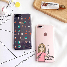 Spain Cute Cartoon Medicine Nurse Doctor Dentist Soft Case For iPhone SE 5 5S 6 6S 6Plus 7 7Plus For Huawei P8 2017 For Samsung