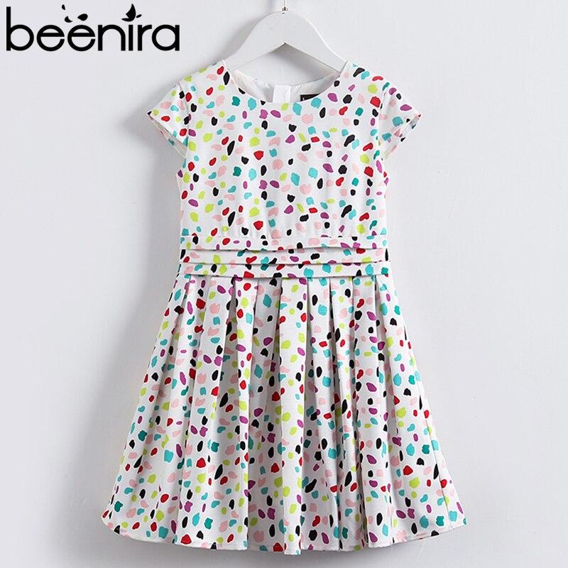 Beenira Kids Dresses 2018 European And American Style Girls Colorful Dots Summer Dress Design 4-14Year Children  Princess Dress<br>