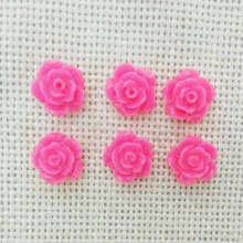 no hole 10mm flowers cabochons cameo flat back rose phone case nail beauty manicure headband glue on resin jewelry making decor(China)