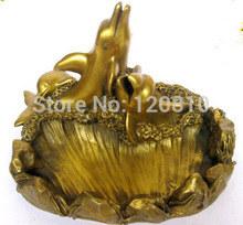 Free shipping Dolphin copper ashtray business gifts Home Decoration