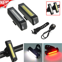 Bicycle light CYCLE ZONE 6 Modes White COB 1 LED Bicycle Bike Front Rear Light USB Rechargeable Battery High Quality