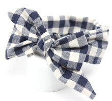 DIY plaid Kids hairbow for girls headwrap cute cotton headband big bowknot hairband for Children's hair accessory gift(China)
