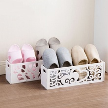 Stereo bathroom footwear simple slippers shelves home living room shoes storage frame simple shoes tray(China)