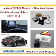 "Auto Back UP Reverse Camera + 4.3"" Color LCD Monitor = 2 in 1 Rearview Parking System - For Subaru Legacy / Liberty 2010~2014"