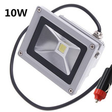 10W 20W led Floodlight 12V 24V Exterior lighting Flood lamp Cigarette lighter plug car maintenance lights 3m cable(China)