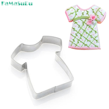 3pcs Cookie Cutter Kids T Shirt Stamp Sugar Paste Fondant Mold Christmas Cupcake Cake Decorating Tool Kitchen Accessories(China)