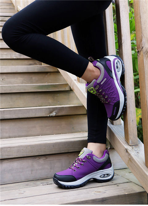 17 High quality Sneakers women shoes Running shoes woman leather Sport Shoes Air damping Outdoor arena Athletic zapatos mujer 12