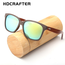 2017 Polarized Bamboo Sunglasses Men Wooden Sun glasses Women Brand Designer Wood Glasses Oculos de sol masculino for driving(China)