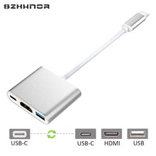 SZHXNOR Type-c Digital AV Multiport Adapter USB 3.1 USB-C HDMI 4K Type-C Charging Port for Apple New Macbook Samsung S8 NOTE 8(China)