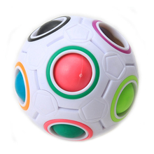 2017 1pc Rainbow Football Creative Ball Children Kids Spherical Block Toy Learning And Education Toys For Children Hot Sale