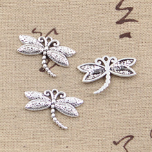 8pcs Charms dragonfly 17*25mm Antique Tibetan Silver Pendant Findings Accessories DIY Vintage Choker Necklace(China)