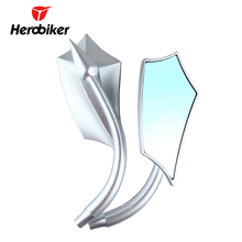 Buy HEROBIKER Universal Motorcycle Side Mirrors Aluminum Rearview Mirrors Street Bike Touring Scooter Cruiser Chopper Cafe Racer for $27.90 in AliExpress store