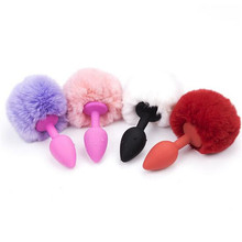 New Sexy Cute Plush Ball Anal Stopper Little Tail Anal plug Sex Toys BDSM Plot Role-playing Toys juguetes sexuales para parejas