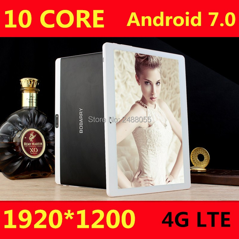 DHL Free Shipping Android 7.0 10.1 inch MT6797 T100 tablet pc 10 Core 4GB RAM 128GB ROM 1920x1200 IPS 4G LTE Gift tabletter(China)