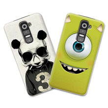 Grid Fashion Cute Painting High Quality Cover Case for LG G2 Case Cover Colored Case For LG G2 D802 Case Free pen gift
