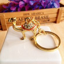 Egypt Camel Key Chain Animals Keyring Jewelry Bag Keychains for Car Woman Men Key Ring Holder Best Gifts Bag Keyring Key Holder(China)