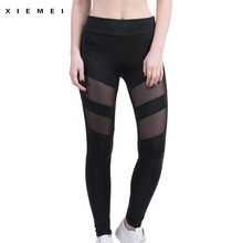 Buy Women High Elasticity Mesh sporting legging Black push Workout jogger fitness gyms sweat pant female active lulu quick-drying for $7.41 in AliExpress store