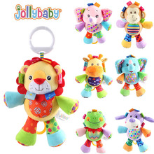 Jollybaby Cute Pull & Play Melody Musical Plush Stuffed Animal Baby Infant Comfort Crib Hanging Toys Gift M09(China)
