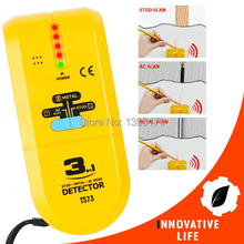 3-in-1 Detector Find Metal Wood Studs AC Voltage Live Wire Wall Scanner Electric Box Finder with Groove + Buzzer Handheld Tester(China)