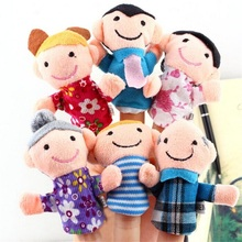 6Pcs Pack Finger Puppet Happy Family Finger Toy Finger Doll Baby Cloth Dolls Baby Toys Kid Child Boys Girls Educational Hand Toy