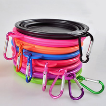 2016 Silicone Collapsible Foldable Dog Bowl Outdoor Portable Dogs Cats Feeder Water Bowl Puppy Travel Bowls