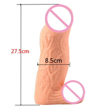 Buy 275*80mm huge big size super thick dildo adult sex toys woman masturbator artificial penis large dick giant dildos women