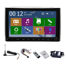 Stereo Auto Radio PC Double Din GPS Map Car DVD Sub 3D TV MP4 MP3 HeadUnit Music Navigator Autoradio Touch Screen(China)