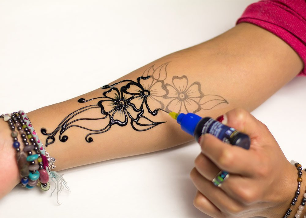 Detail Feedback Questions about Premium Freehand Temporary Tattoo ...