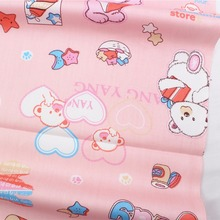 16712-12F,50cm * 150 cm Bear cartoon series cotton fabrics, making cushions cushion, children's clothing, bedding.(China)
