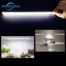 USB LED Touch Sensor Kitchen Cabinet Light Lamp 450LM Wardrobe Closet Showcase Bookshelf White USB Lamp W/Touch Sensor(China)