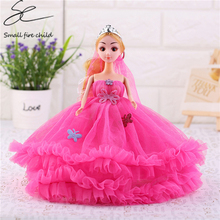 "New Moveable Joint Body Princess Babe Doll 30cm 11"" Wedding Design Dress Suite Kids Toy Brinquedo Girl Gift"