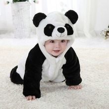 2017 Hot sale Cute Panda Rompers hoodies for Little Baby Boy Girl(China)